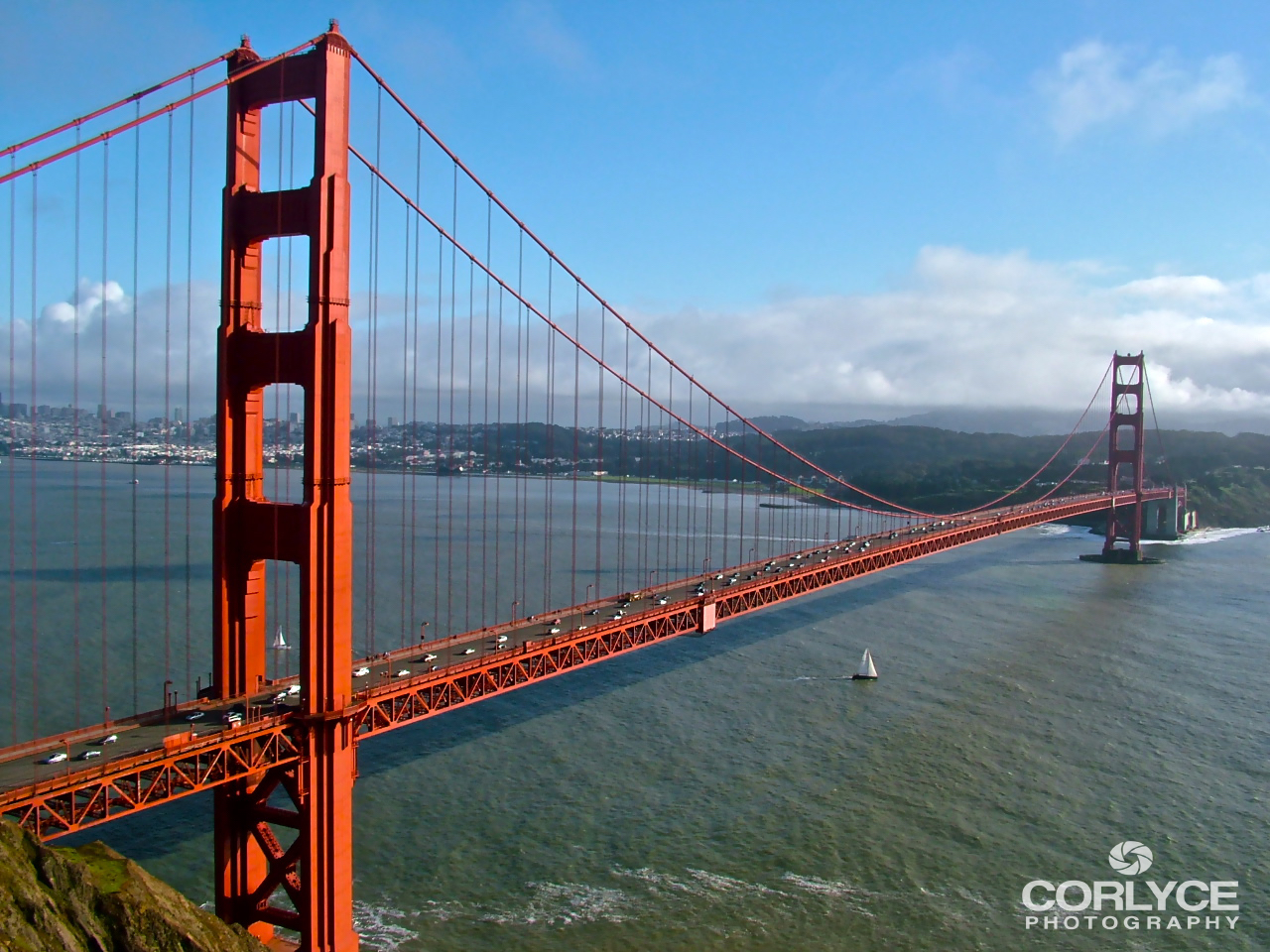 The Iconic Golden Gate Bridge.